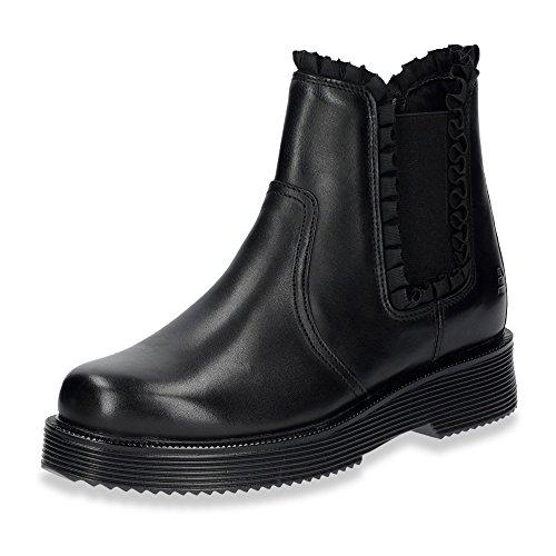 BULLBOXER 958505E6L-BLCK Damen Boots Aus Glattleder Rutschhemmende Profilsohle Schwarz