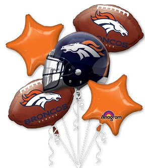 Anagram International Bouquet Broncos Party Balloons, Multicolor