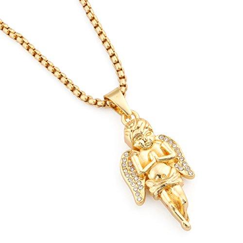Gold Baby Angel Pendant - 6