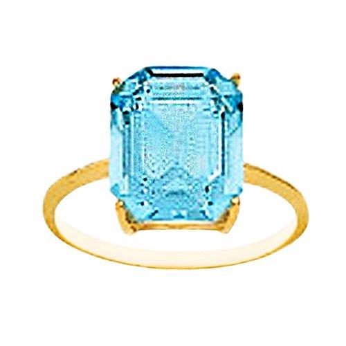 Bague 18k 12x10mm d'or de l'eau en pierre. [AA7125]