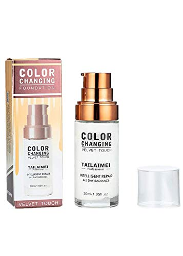 Liquid Foundation, Babyee Color Changing Foundation Makeup Base Nude Face Liquid Cover Concealer Brighten