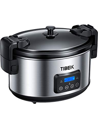 Slow Cooker 8.5-Quart Programmable Slow Cooker with Digital Timer up to 20 Hours, Sealing and Locking Lid, Dishwasher Safe Non-Stick Stoneware Crock Pot, Auto Shut Off