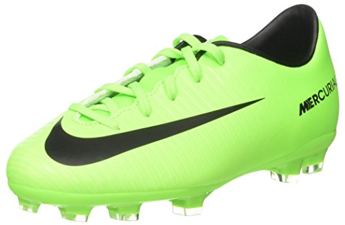 NIKE Jr. Mercurial Victory VI FG Soccer Cleat (2.5Y) Electric Green