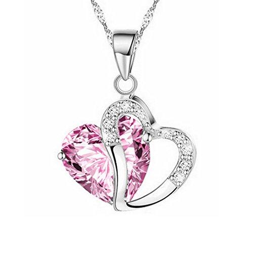 Crystal Open Heart Charm - 5