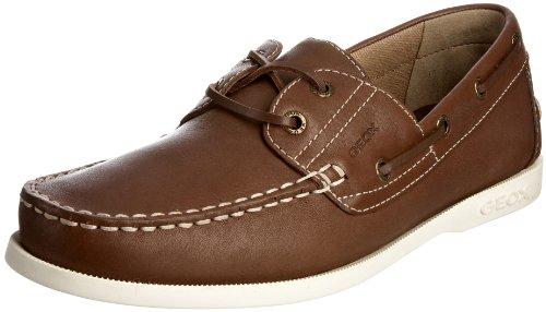 hombre para Zapatos cuero Vela Marrón Textil de Uomo Geox U1100B00032C4002 Wwxq0BI8WA