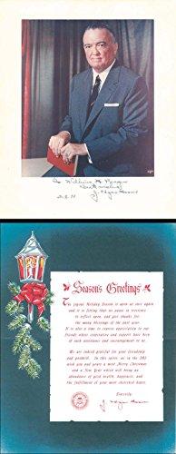 J. Edgar Hoover Portrait & Christmas Card (Cards Christmas Portrait)