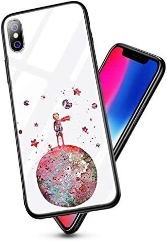 Caler hoes compatibel met Huawei Honor View 10V10 hoes 9H gehard marmer glas achterkant met TPU frame beschermhoes ultradunne hoes voor mobiele telefoon stootvast slim krasbestendig shell case Kleine prins
