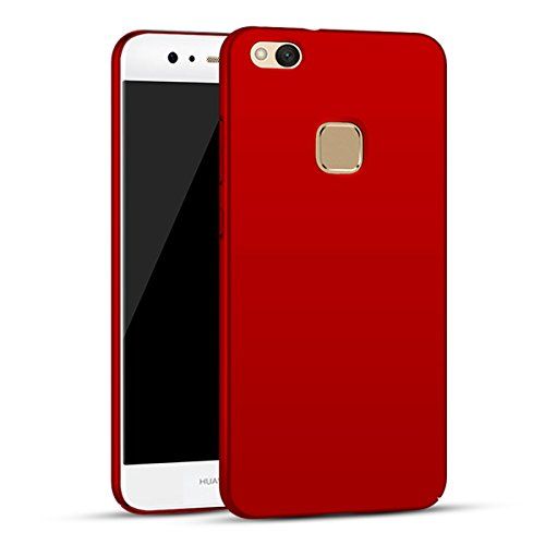Price comparison product image Huawei P10 Lite Case Cover, Moonmini Slim Fit Ultra-thin Hard PC Full Body Protection Smooth Grip Back Case Cover Holder for Huawei P10 Lite (Red)