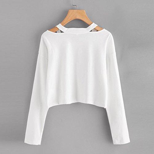 Automne K Mode 2017 Courts Hiver Broderies youth® La Roses Pour Avec Vêtements À Capuche Femmes Chemisier Blanc Manches Sweats Longues O0Ozrq8
