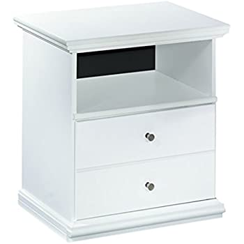 Ashley Furniture Signature Design - Bostwick Shoals Nightstand - 1 Drawer and 1 Cubby - Vintage Casual Cottage Design - White