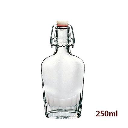 Estilo clásico con tapón de botella de vidrio transparente, la Protección del Medio Ambiente Material