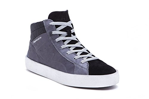 CRIME London Damen Sneaker Grau Grau