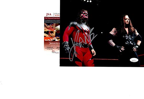 WWE WWF KANE Autographed 8x10 Photo BROTHERS OF DESTRUCTION UNDERTAKER - JSA Certified - Autographed Wrestling Photos