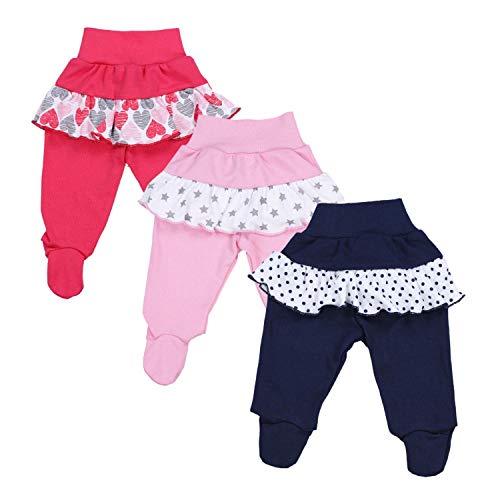 TupTam Baby Meisjes Broek met Voeten en Ruches
