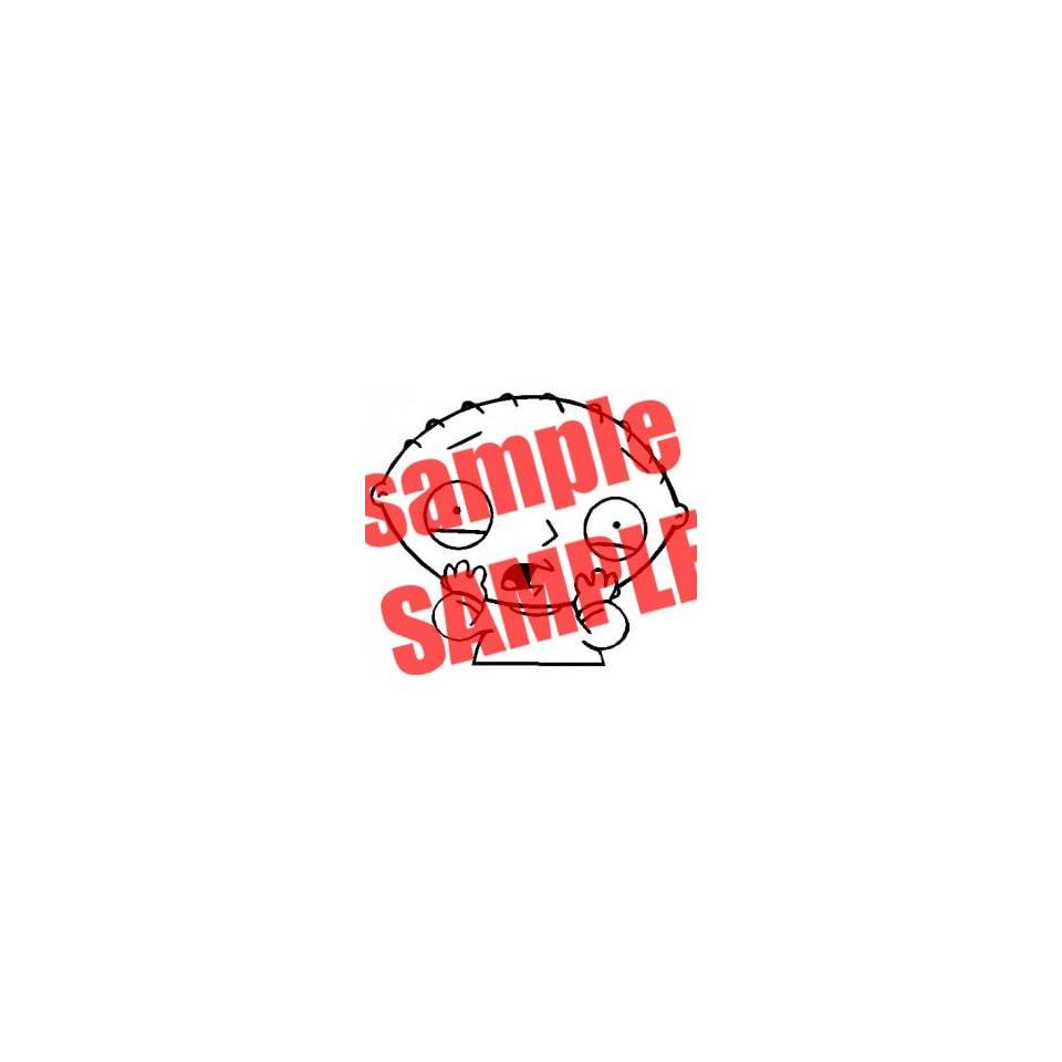 STEWIE SCARED FACE FAMILY GUY CARTOON WHITE VINYL DECAL STICKER