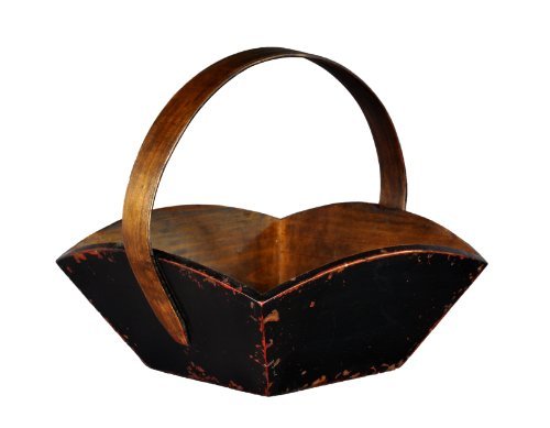 antique-revival-wooden-fruit-tray-with-handle-black-finish
