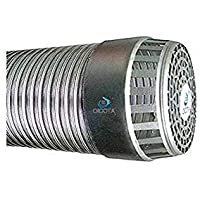 OICOTA 6-Inch Flexible Aluminium Chimney Exhaust/Duct Pipe Expended Up to 5 ft with Cowl Cover (Silver)