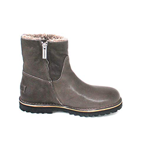 Femme Leather nappa Amsterdam grey Shabbies Shs0292 Bottines Grau Ht7Cnx