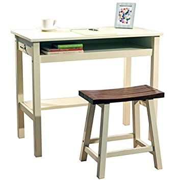 Amazon.com: Kids Study Table and Chair Set Wood Stool with Storage ...