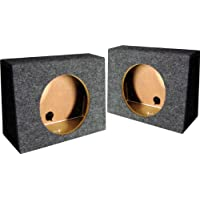 (2) Q-POWER QTW10 Single 10 Sealed Car Audio Subwoofer Sub Box Enclosures Pair