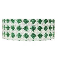 Wrapables Shimmer Japanese Washi Masking Tape, Green Diamonds