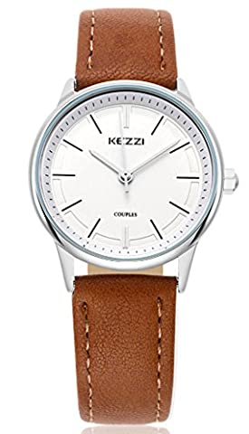 Wutan Women's Watch Stainless Steel Case Brown Leather Band Sports Watches Analog Quartz Casual Classic Fasion Ladies Dress Wristwatches (Water Proof Watches Ladies)