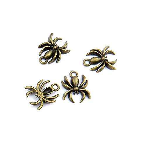 85pcs Jewelry Making Charms Jewellery Charme Antique Bronze Tone Fashion Finding for Necklace Bracelet Pendant Crafting Earrings CY032 Spider