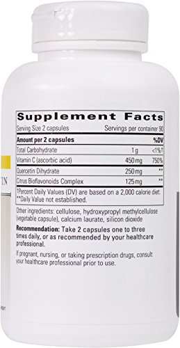 Integrative Therapeutics Vitamin C/Quercetin /Bio, 180 Tablets