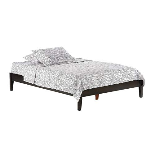Night & Day Furniture Basic P Series Size Platform Bed in Chocolate Finish, Queen