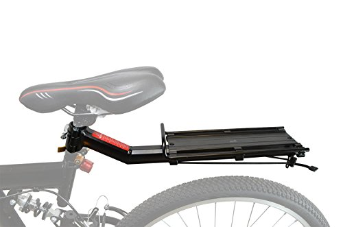 Lumintrail Bike Commuter Carrier Rack w/Seatpost Quick Release Universal Rear Mount for Bicycle Cargo by Lumintrail (Image #2)