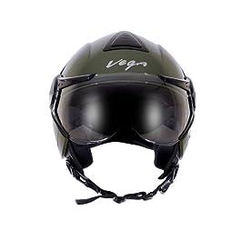 Vega Verve Open Face Helmet (Women's, Dull Army Green, M)