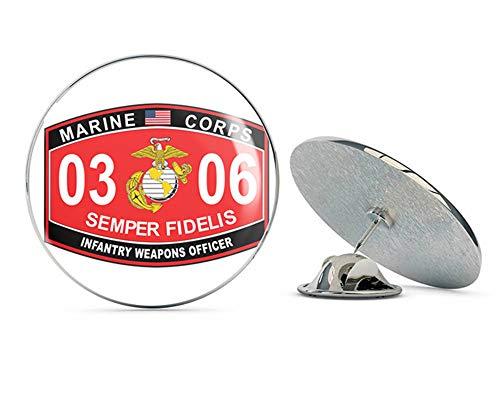 - Veteran Pins Infantry Weapons Officer Marine Corps MOS 0306 USMC US Marine Corps Military Steel Metal 0.75