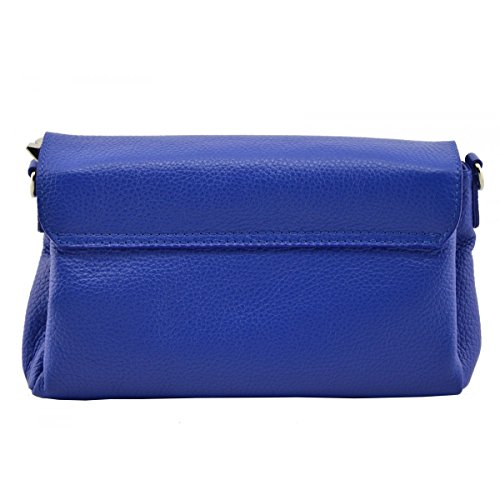 Woman Bag Woman Clutch In Color Leather Tuscan Blue Made Genuine Italy Leather IvBfXP