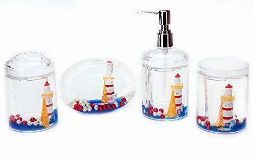 Locco Decor 4 Piece Acrylic Liquid 3D Floating
