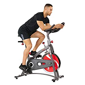 Well-Being-Matters 41Gy1W4QH7L._SS300_ Sunny Health & Fitness Indoor Cycling Exercise Bike with LCD Monitor, 40 lb chrome Flywheel, 265 lb Max Weight - SF…