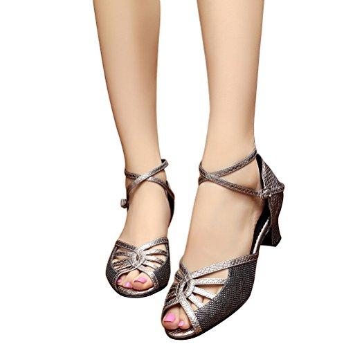 Cxs Ladies Open Toe Tacones De Boda Para Fiestas Zapatos De Baile Para Bailar Salsa De Tango Y Práctica, 2.0 Heel