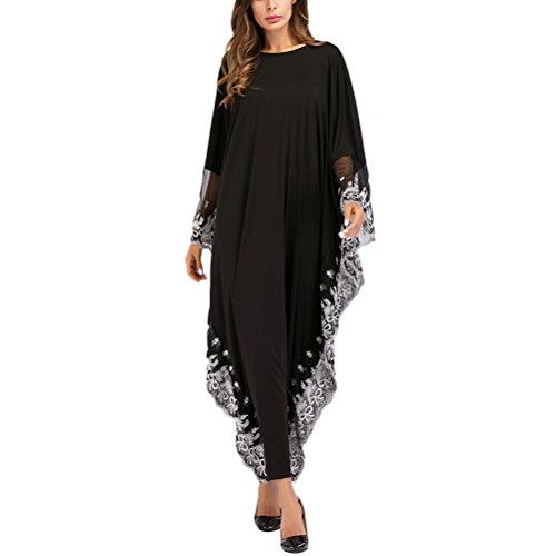 繕う中央レイアZhhlinyuan おしゃれな レディース Tunics Jalabiya Abaya Caftans/Kaftans for Women ドレス ナイトウェア フルの長さ ビーチウェア Lightweight