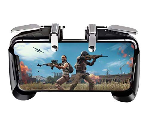 PUBG Mobile Controller, Durable Cellphone Triggers Gamepad Sensitive Shoot and Aim Keys Joysticks for iPhone Android Smartphone(Black) (Best Android Phone Ranking)