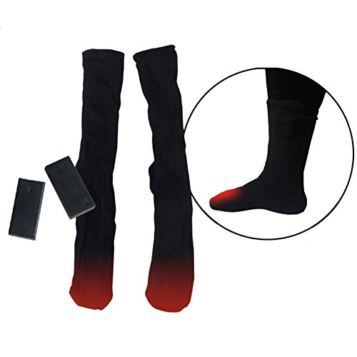 Electric Battery Heated Socks Thermal Cotton Heated Socks Battery Winter Heated Foot Warmer for Adults Men & Women Warming Socks Help Get Feet Warm in Cold Weather Outdoors or Indoor by Molie