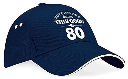 80th Birthday Baseball Cap Hat Gift Idea Present keepsake for Women Men