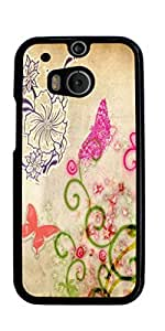 Butterfly Design Hard Case for HTC ONE M8 ( Sugar Skull ) by mcsharks