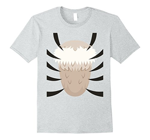 Mens Tiger Costume T-Shirt - Last Minute Halloween Costume 3XL Heather Grey (Quick Cute Last Minute Halloween Costumes)