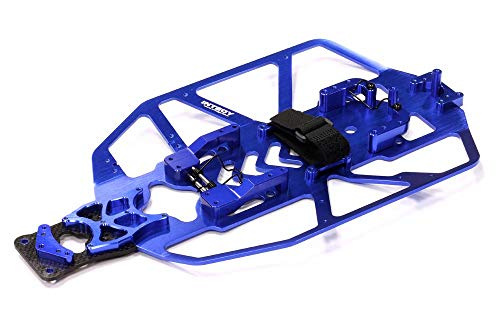 Integy RC Model Hop-ups T8091BLUE V2 Alloy Chassis Conversion Set for Traxxas 1/10 Electric Slash 2WD