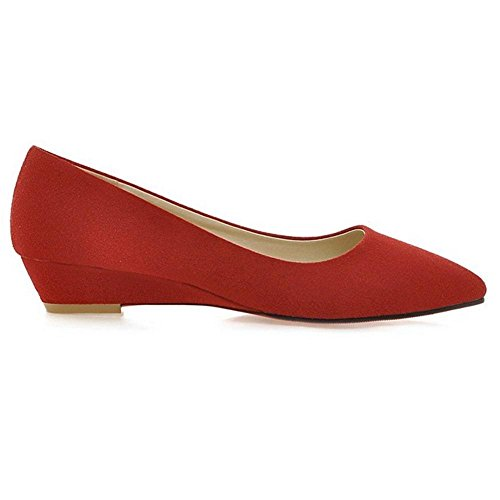 Red Donna Basso Scarpe Tacco col TAOFFEN Tacco fxaqgOwn8