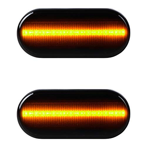 - 1 Pair Sequential LED Side Indicator Marker Light Kit Compatible with Volkswagen VW MK4 GTI R32 Golf Jetta Bora B5 B5.5 Passat New Beetle