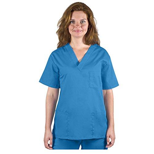 98.6 Unisex Medical Nursing V-Neck Top L Royal Blue ()