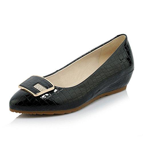 Resorte lado hebilla dama zapatos de moda/Zapatos puntiagudos Asakuchi/la cuesta con zapatos de suela suave B