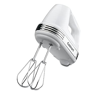Cuisinart HM-70FR Power Advantage 7-Speed Hand Mixer, Stainless and White (Certified Refurbished)