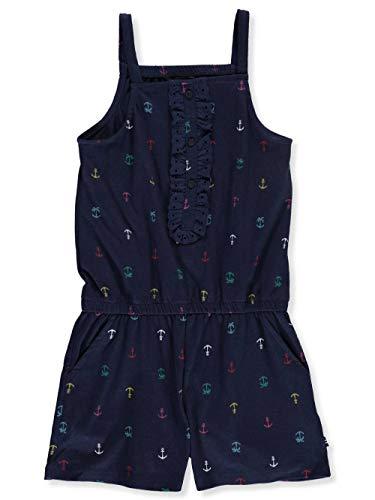 Nautica Big Girl's Fashion Romper Shorts, anchor navy, S7