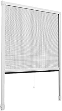Mosquitera enrollable con ventana Start, de PVC, color blanco, 80 x 130 cm, tejido de fibra de vidrio, mosquitera sobre raíl con caja enrollable, antiinsectos y antimoscas: Amazon.es: Bricolaje y herramientas